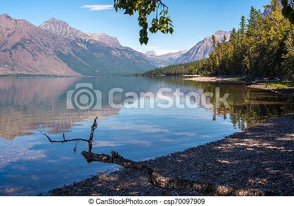 View of Lake McDonald in Montana - csp70097909