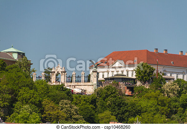 view of landmarks in Budapest - csp10468260