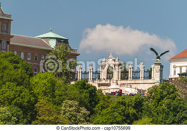 view of landmarks in Budapest - csp10755699