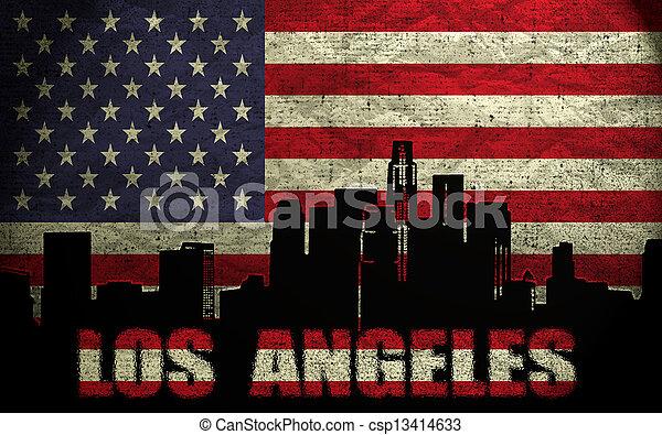 View of Los Angeles City - csp13414633