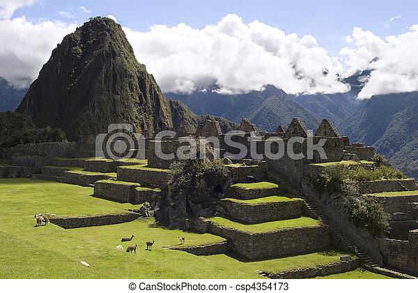 View of Machu Picchu, Peru - csp4354173