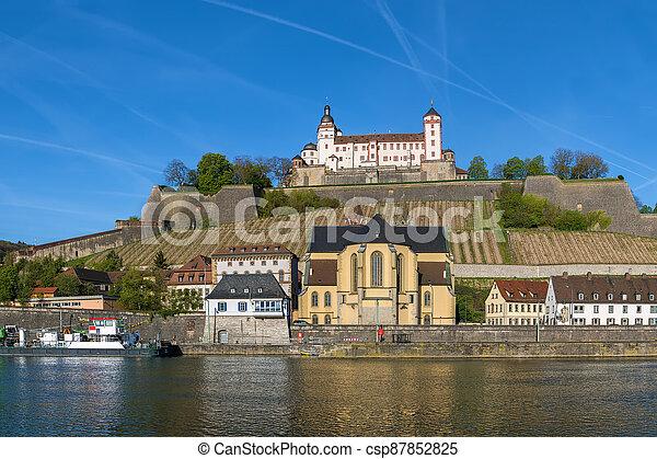 View of Marienberg Fortress, Wurzburg, Germany - csp87852825