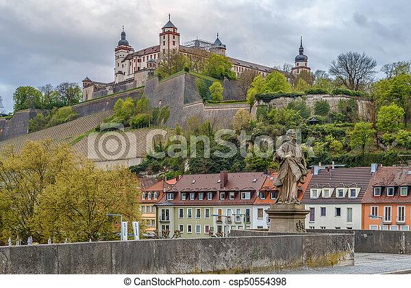 View of Marienberg Fortress, Wurzburg, Germany - csp50554398