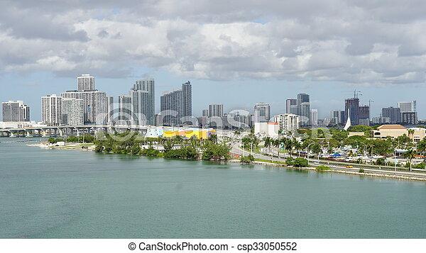 View of Miami in Florida - csp33050552