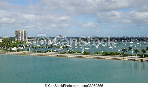 View of Miami in Florida - csp33050555