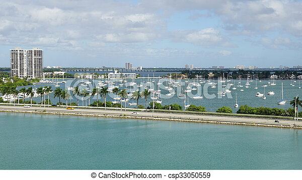 View of Miami in Florida - csp33050559