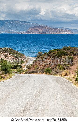 View of Monemvasia island in Greece - csp70151858