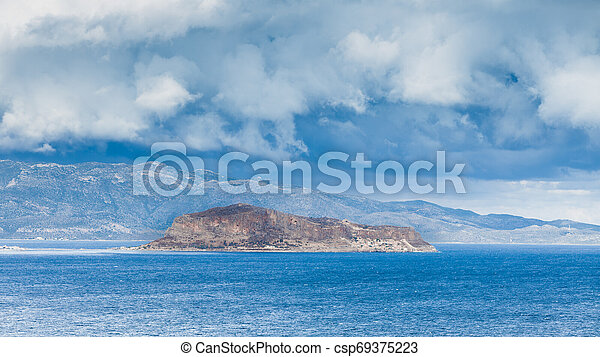 View of Monemvasia island in Greece - csp69375223