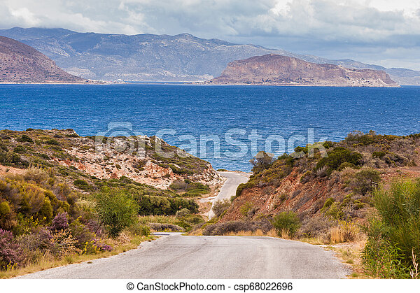 View of Monemvasia island in Greece - csp68022696
