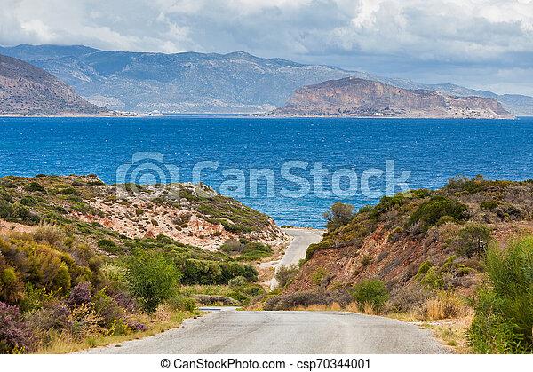 View of Monemvasia island in Greece - csp70344001
