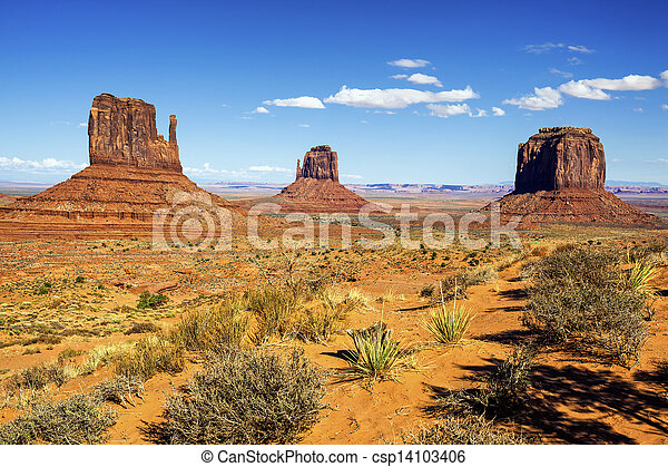 view of Monument Valley - csp14103406