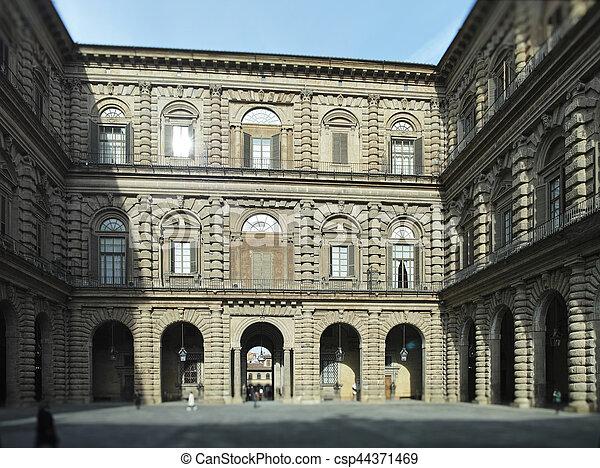 view of palazzo pitti - csp44371469
