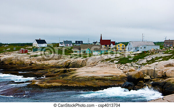 View of Peggys Cove - csp4013704