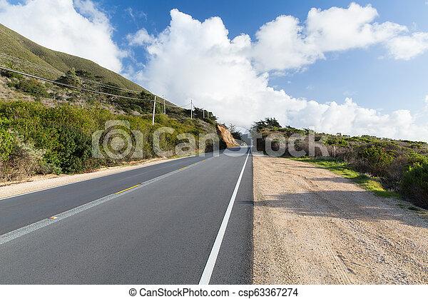 view of road at big sur coast in california - csp63367274