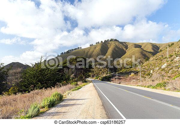 view of road at big sur coast in california - csp63186257