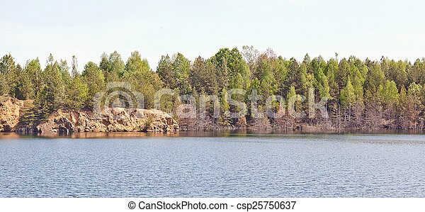 View of rocky shore - csp25750637