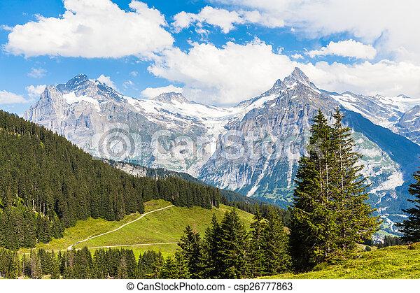 View of Schreckhorn, swiss alps - csp26777863