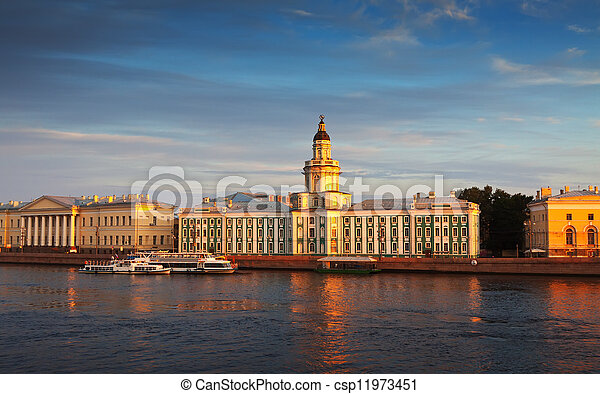 view of St. Petersburg. Vasilyevsky Island - csp11973451