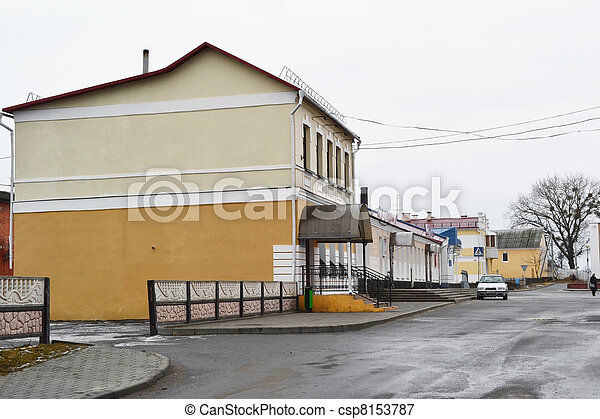 View of street in Stolin - csp8153787