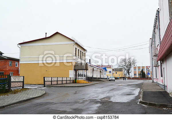 View of street in Stolin - csp8153784
