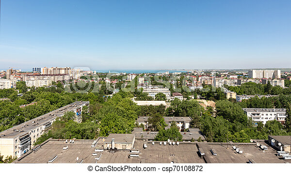 View of the 12th district of the city of Anapa resort - csp70108872