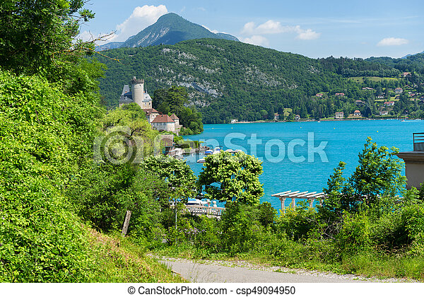 View of the Annecy lake in the french Alps - csp49094950