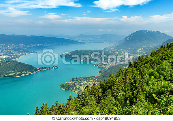 View of the Annecy lake in the french Alps - csp49094953