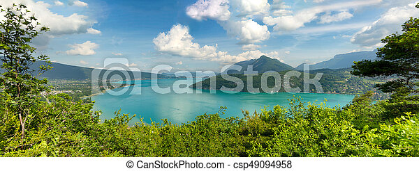 View of the Annecy lake in the french Alps - csp49094958