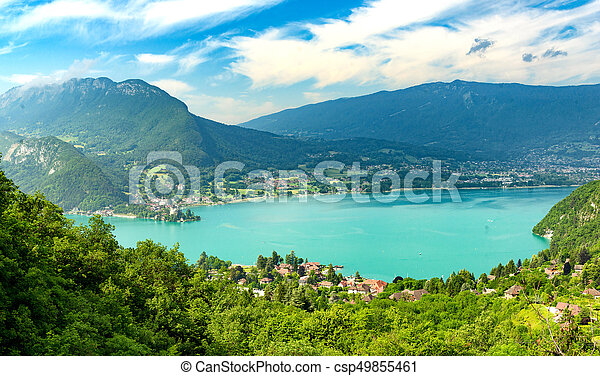 View of the Annecy lake - csp49855461