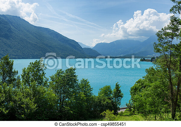 View of the Annecy lake - csp49855451