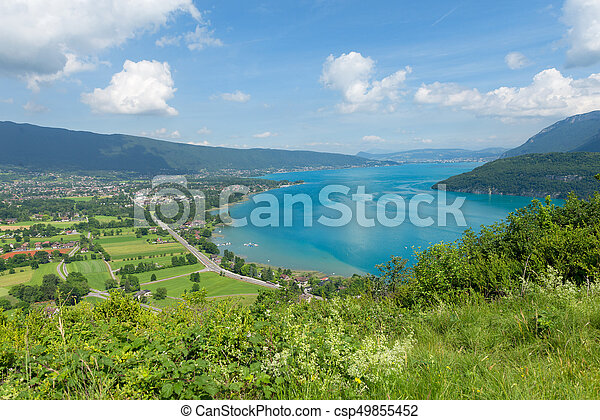 View of the Annecy lake - csp49855452