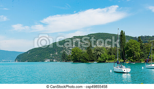 View of the Annecy lake - csp49855458