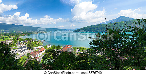 View of the Annecy lake - csp48876740