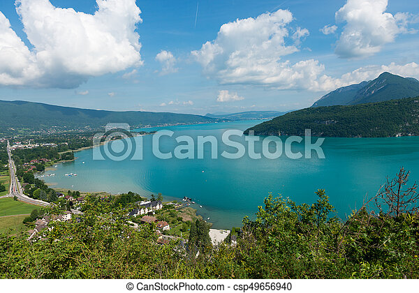 View of the Annecy lake - csp49656940
