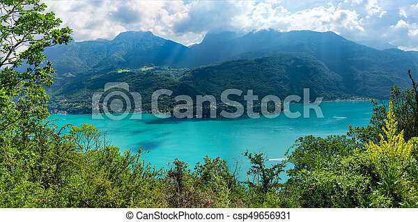 View of the Annecy lake - csp49656931