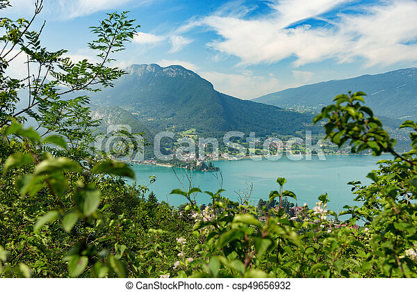 View of the Annecy lake - csp49656932