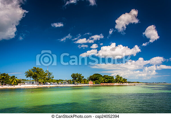 View of the beach in Key West, Florida. - csp24052394