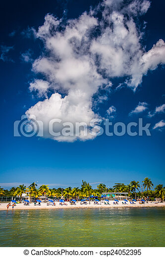 View of the beach in Key West, Florida. - csp24052395