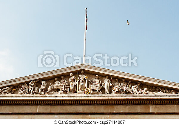 View of the British Museum in London - csp27114087