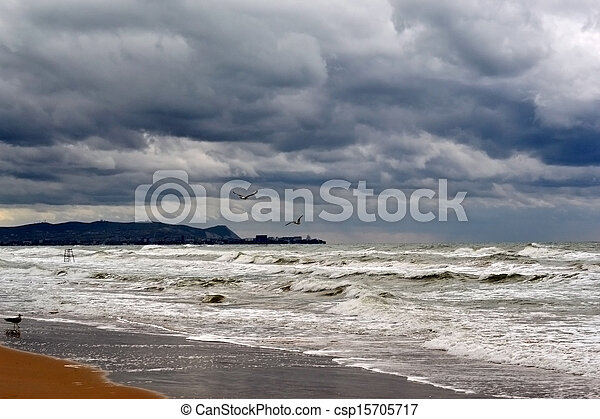 View of the coast of Anapa from Vityazevo - csp15705717