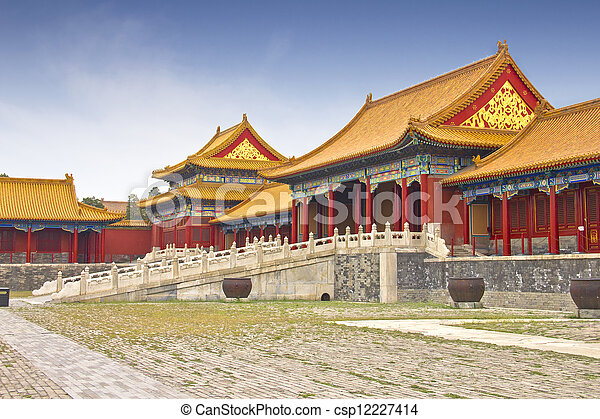 View of the Forbidden City, Beijing, China - csp12227414