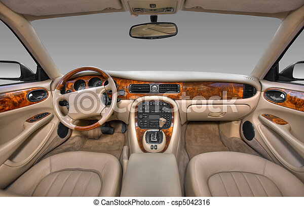 View of the interior of a modern automobile - csp5042316
