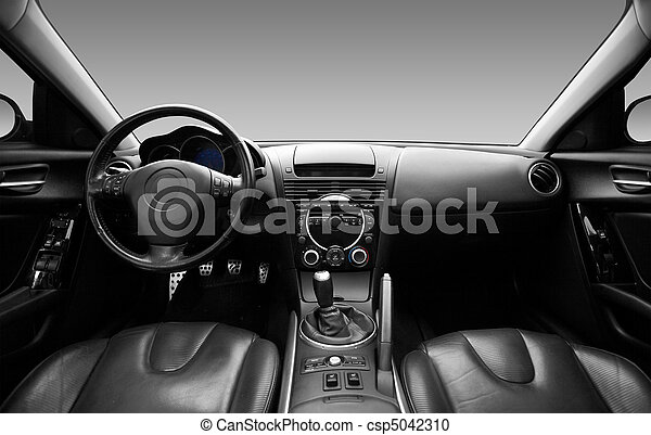View of the interior of a modern automobile - csp5042310