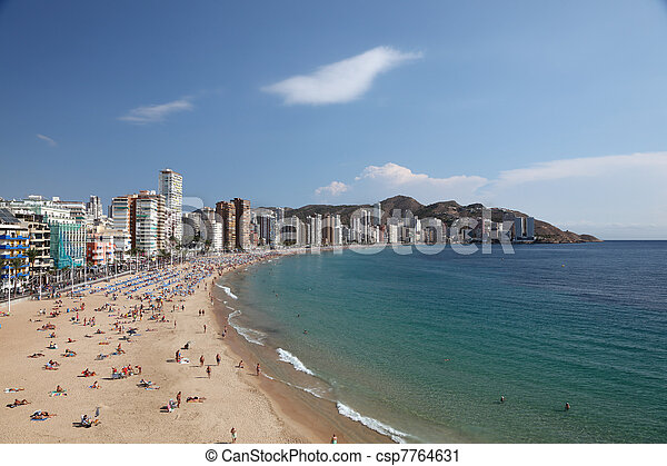 View of the Mediterranean resort Benidorm, Spain, Photo taken at 20th of October 2011 - csp7764631