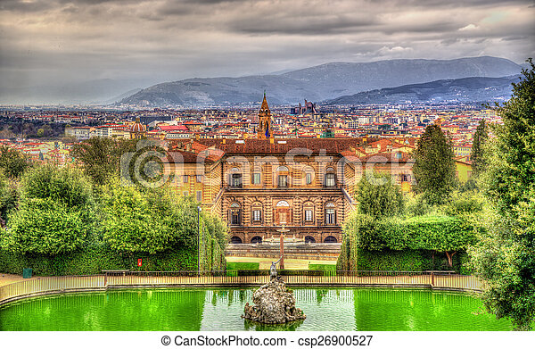 View of the Palazzo Pitti in Florence - Italy - csp26900527
