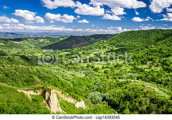 View of the valley summer in Tuscany - csp14393545