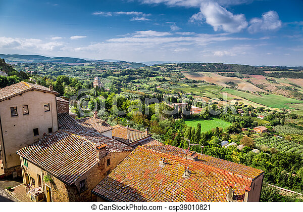 View of the vintage city in Tuscany, Italy - csp39010821
