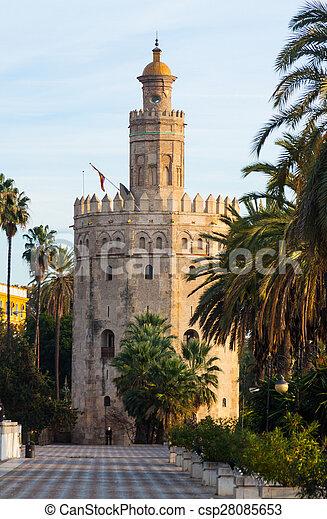 view of Torre del Oro. Seville - csp28085653