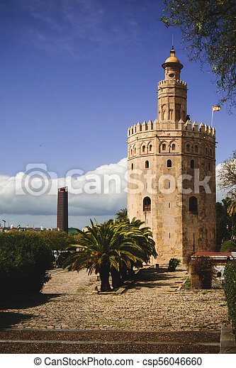 View of Torre del Oro - csp56046660
