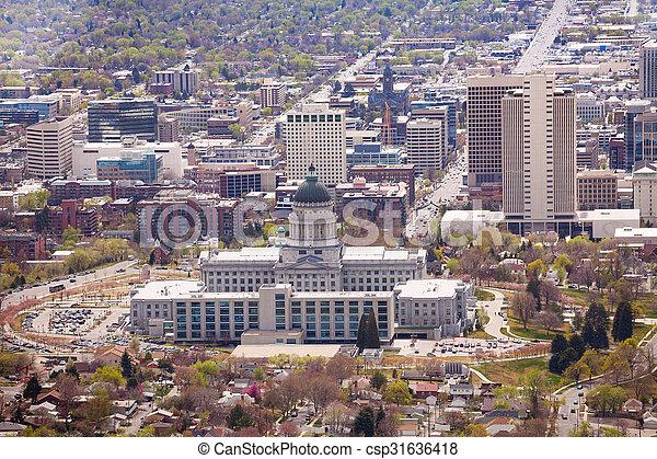 View of Utah Capitol building in Salt Lake City - csp31636418